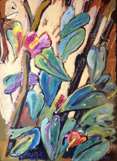 Plantas y flores 2 Floral Acrílico Tela