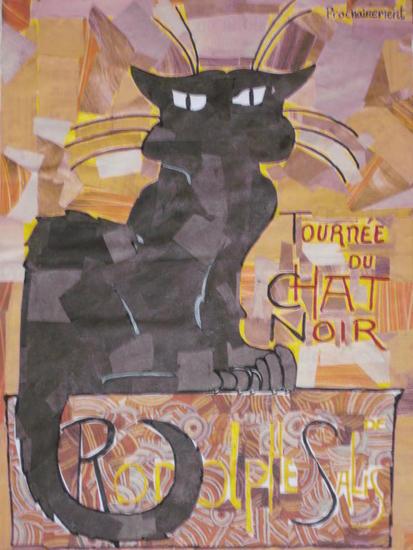 Tournée du chat noir Animales Cartulina