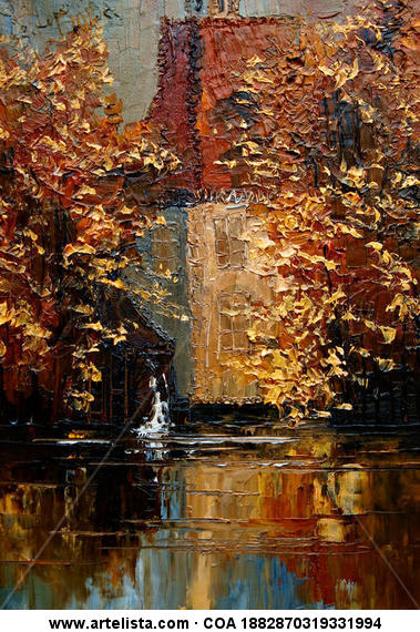 Watermill Canvas Oil Landscaping