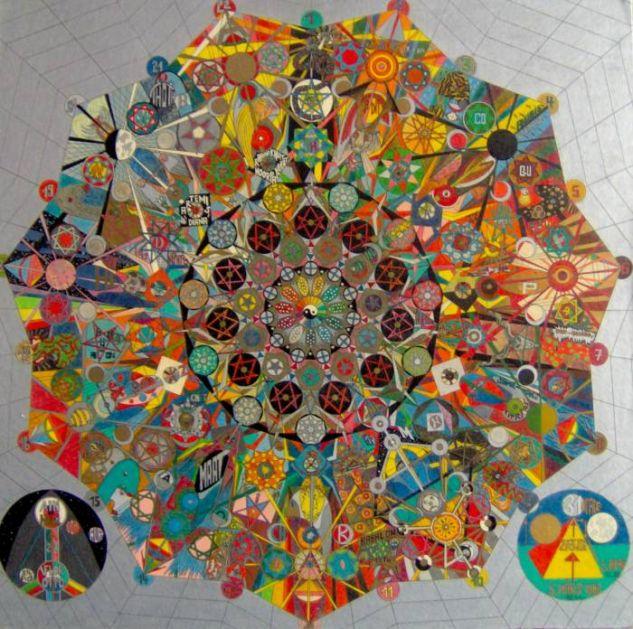 Mandala-22 Pastel Tabla Figura