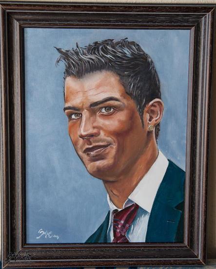 Cristiano Ronaldo Lienzo Óleo Retrato