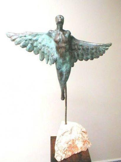 Arcangel V Bronce Abstracta