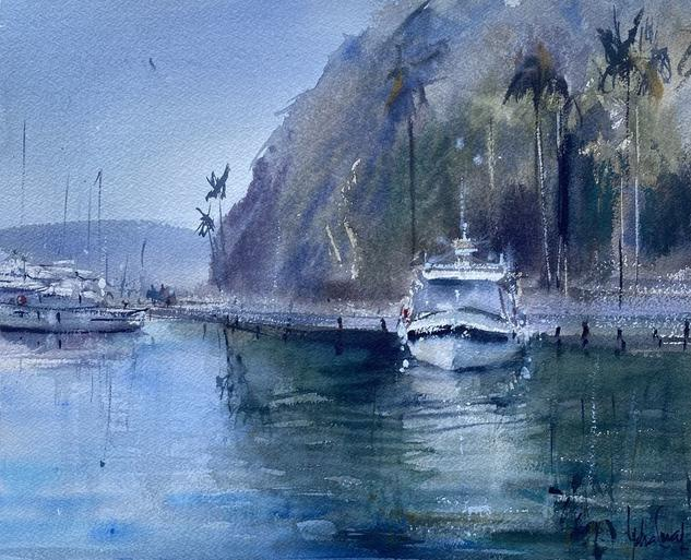 Marina del Este, Almuñecar  Marina Acuarela Papel