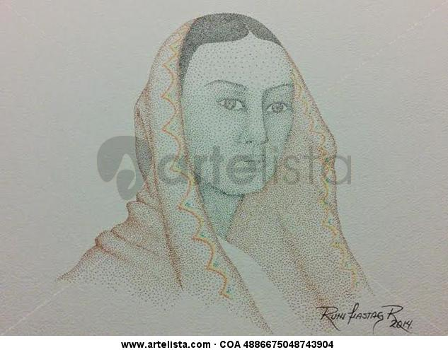 Indigena II Figura Papel Tinta