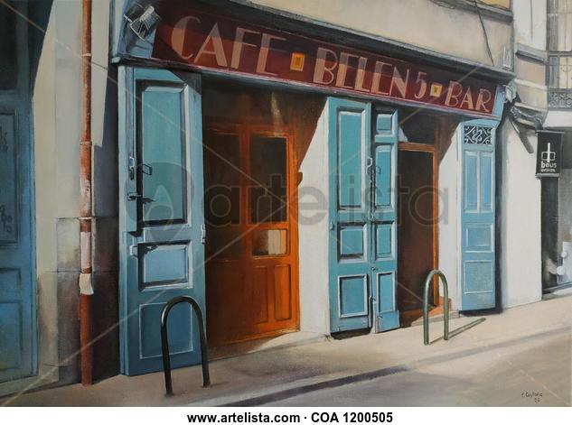 Café Belén Paisaje Óleo Lienzo