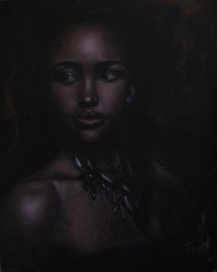 SHAIRA (poetisa) Tabla Óleo Retrato