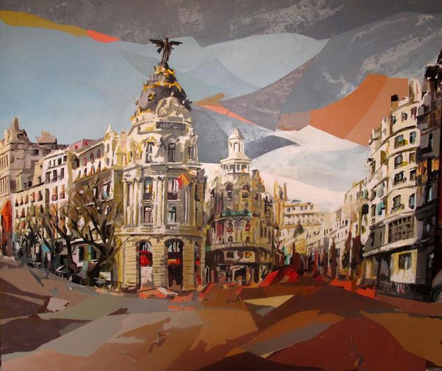 Mi Madrid Landscaping Acrylic Canvas