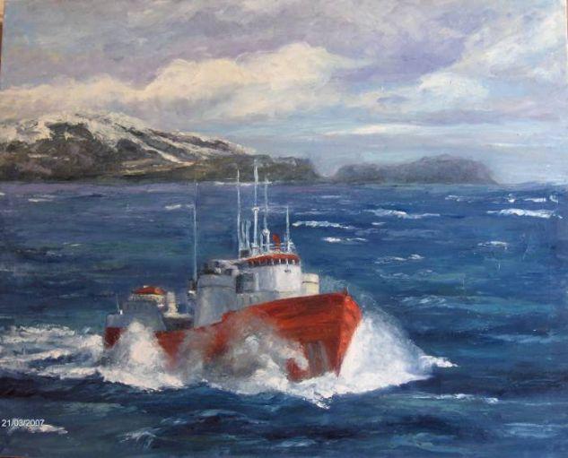 Por los mares del Norte Lienzo Óleo Marina