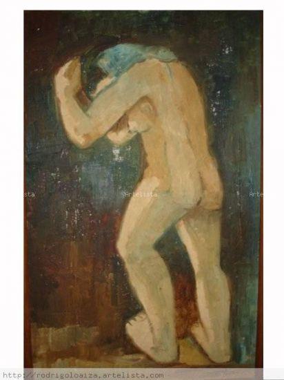 desnudo en marcha Óleo Tabla Figura