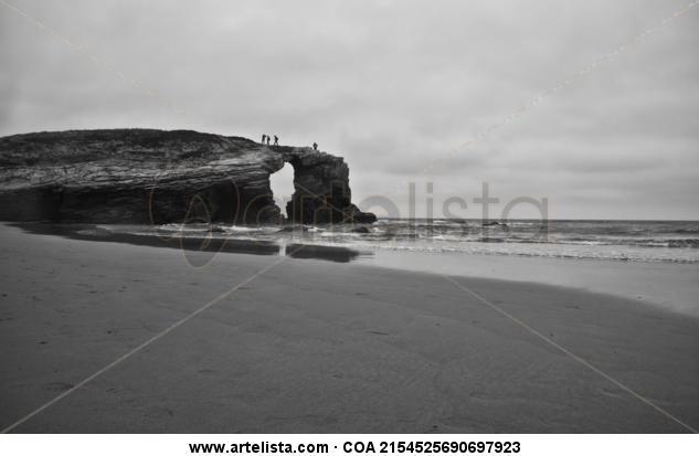 Océano Atlántico 16 Blanco y Negro (Digital) Naturaleza