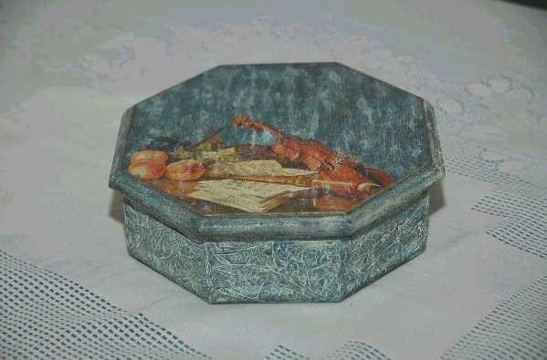 caja con decoupage Decoración Muebles y Objetos de Madera