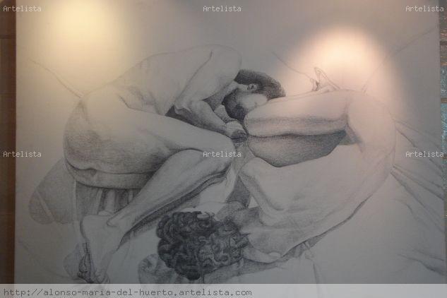 SHIN Y SHAN Lienzo Lápiz (Negro) Desnudos