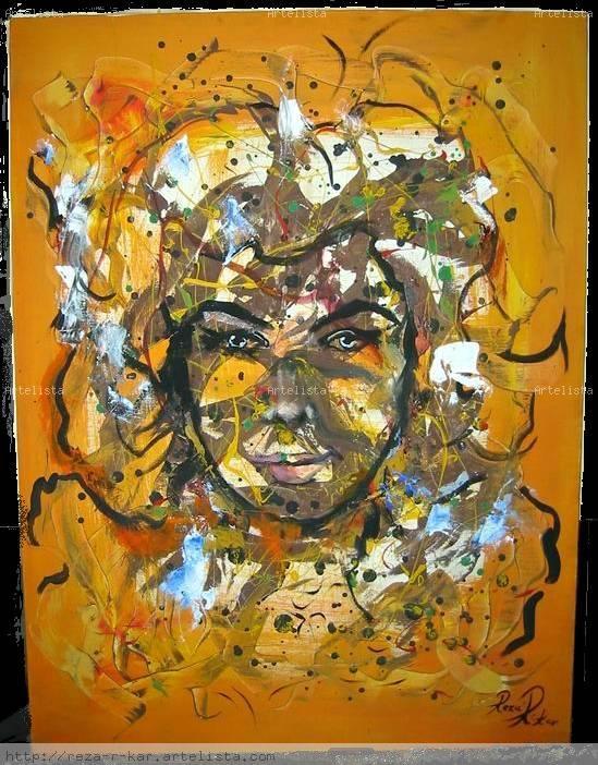 Ingrid a la naranja Lienzo Óleo Retrato