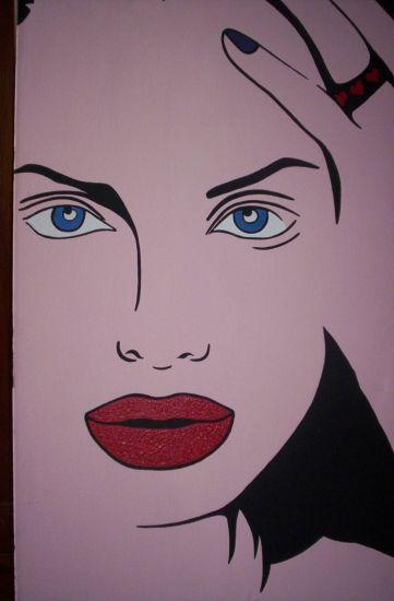 Angelina Love Acrílico Lienzo Retrato