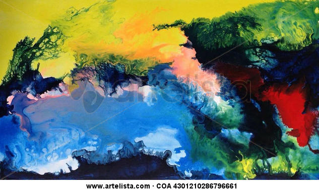 Abstract 347 Lienzo Óleo Otros