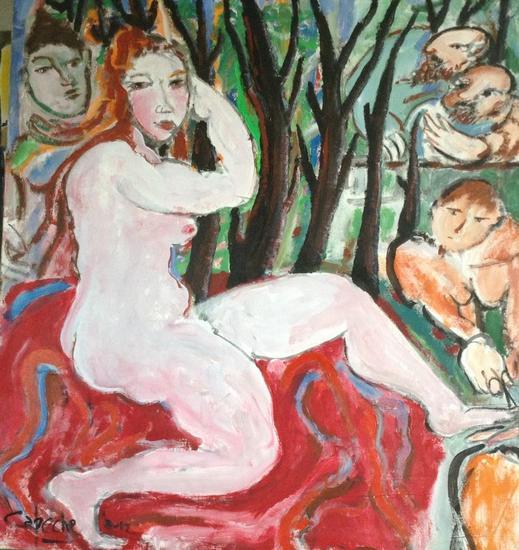 Susana después del baño Desnudos Acrílico Lienzo