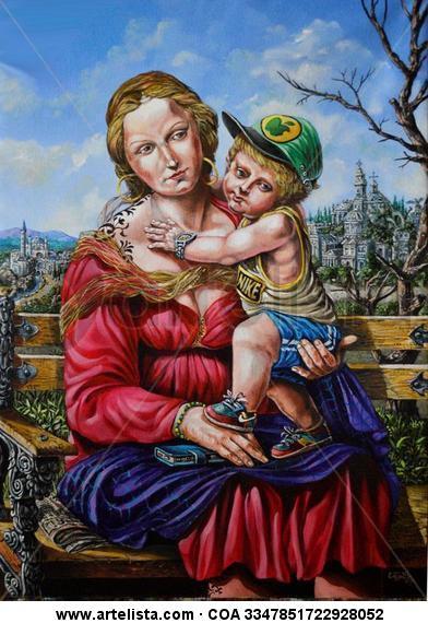 Madonna actualizada Lienzo Acrílico Retrato