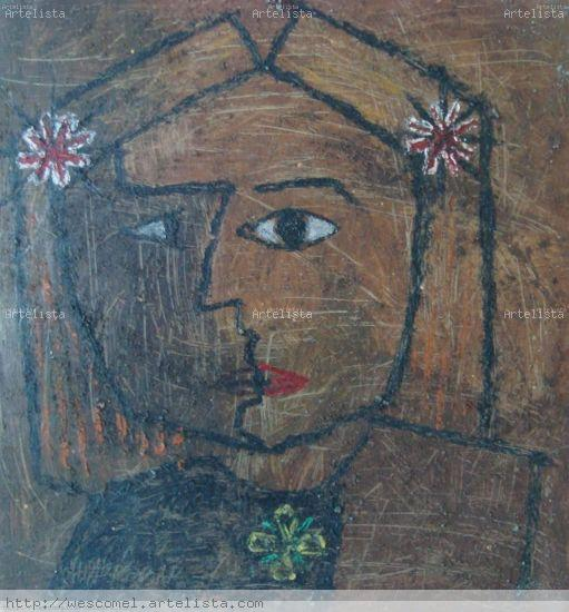 Busto de mujer Óleo Tabla Figura
