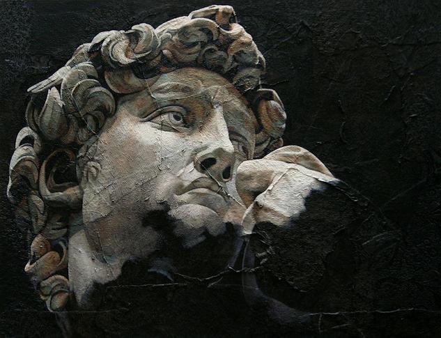 ALEGORIA VIII Figure Painting Oil Panel