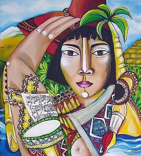 A Latina Óleo Lienzo Figura