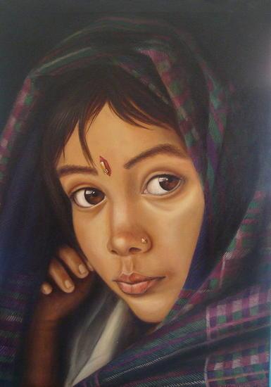 Mirada III Lienzo Óleo Retrato