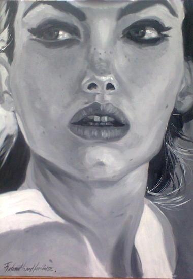 Close-up III Tabla Óleo Retrato