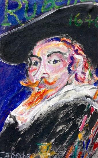 Rubens 2 Tela Acrílico Retrato