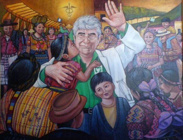 Transformación de médico a político Oil Canvas Portrait