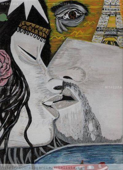 A Kiss Otros Acrílico Paisaje