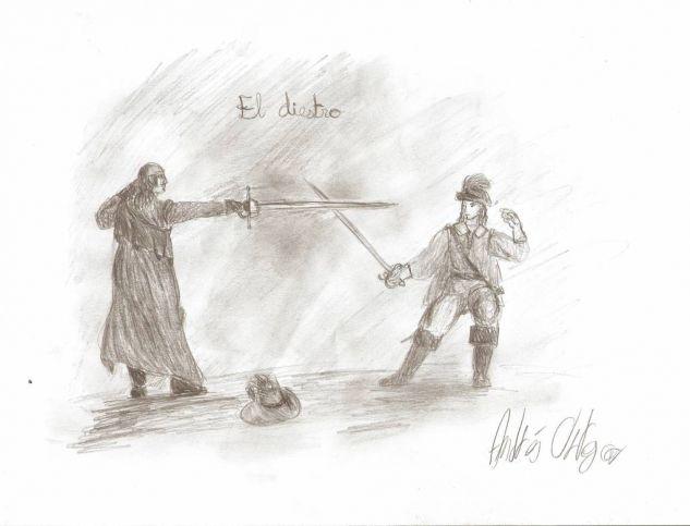 El diestro (boceto) Lápiz