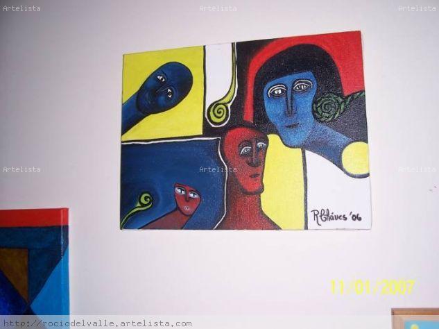 Collection Faces Lienzo Acrílico Figura