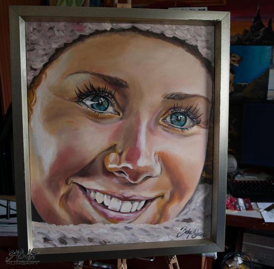 smile Retrato Óleo Lienzo