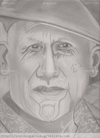 Pablo Picasso Carboncillo
