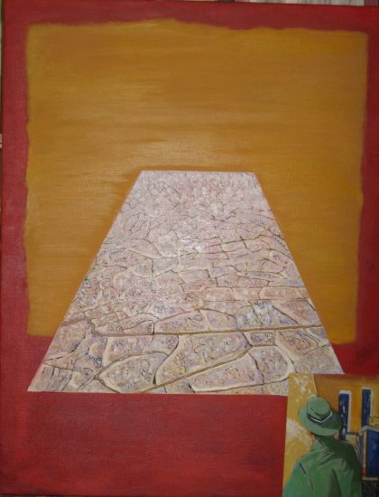 Paisaje homenaje a Rothko Lienzo Óleo Paisaje