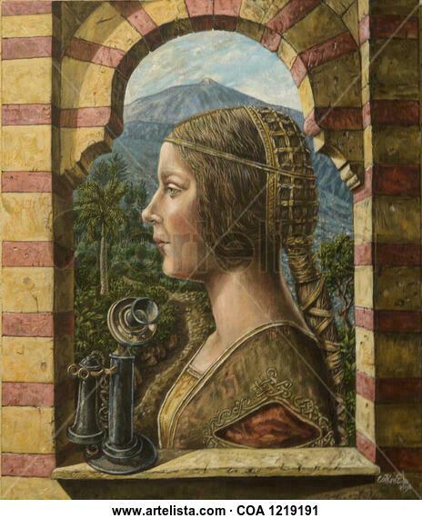 Homenaje a Leonardo. Figura Acrílico Lienzo