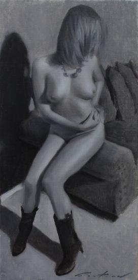 Nude Study - desnuda, desnudos, erotismo Lienzo Óleo Desnudos