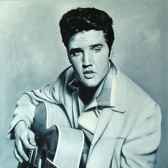 Elvis Presley Lienzo Acrílico Retrato