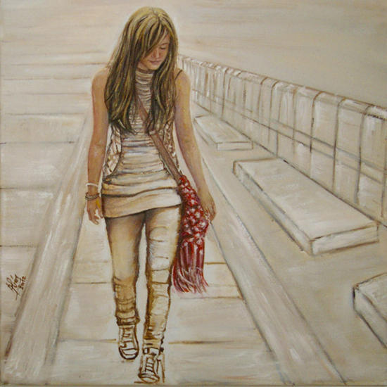 El paseo Lienzo Óleo Retrato