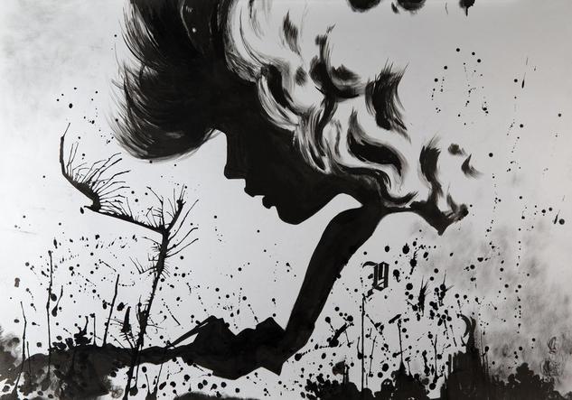 marceau ink Papel Tinta Retrato