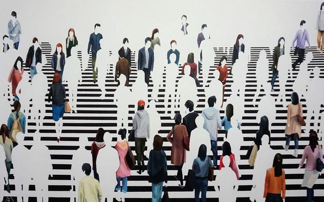 Detrás de tu mirada Figure Painting Oil Canvas