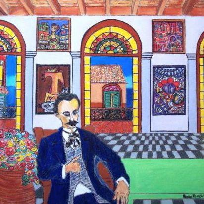 Jose Marti en La Habana Vieja Pastel Papel Figura