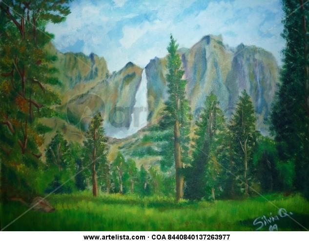 Entre Montañas y bosques Lienzo Óleo Paisaje