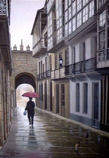 Lluvia en Vivero Óleo Lienzo