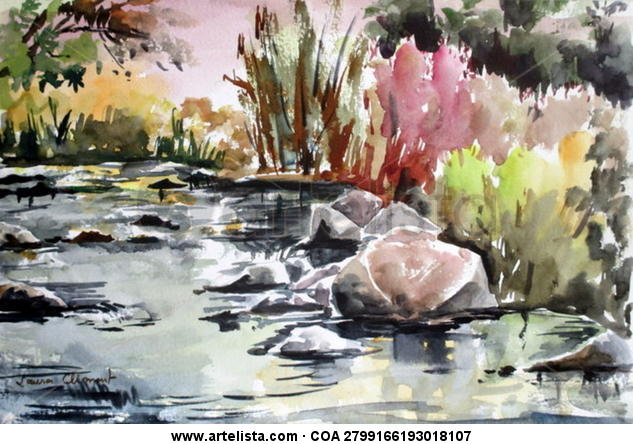 Ripoll River Landscaping Watercolour Paper