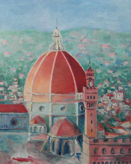 Florencia Canvas Oil Landscaping