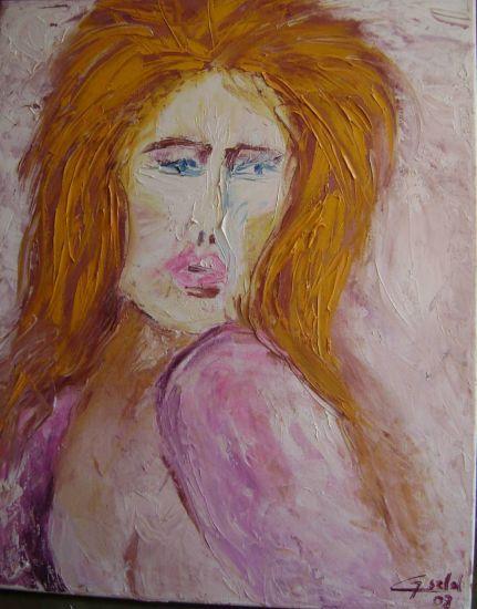 Miranda. Recuerdo Panel Oil Portrait