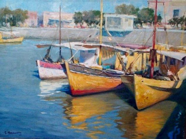 Puerto de Tigre Lienzo Óleo Marina