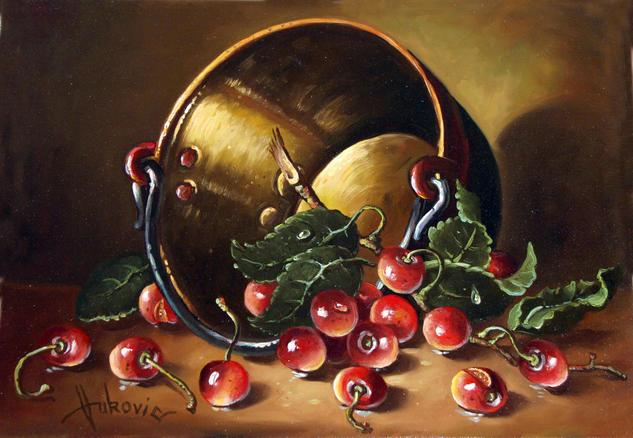 cherries Lienzo Óleo Bodegones