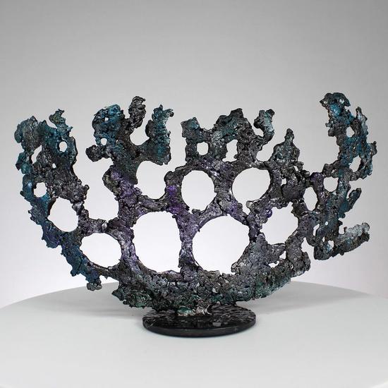 Abstracción II - Escultura abstracta en metal - acero y pigmento Abstract Metal