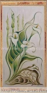 la mano del tiempo Lápiz (a color) Tabla Floral